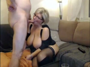 Mom on webcam
