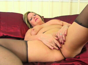 Matures in nylons