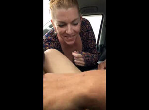 Mature car blowjob
