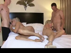 Mature moms gang bang